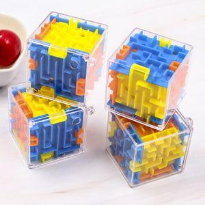 3D Maze Magic Cube Transparente de seis caras Puzzle Speed Cube Rolling Ball Juego Cubos Maze Juguetes para niños educativos
