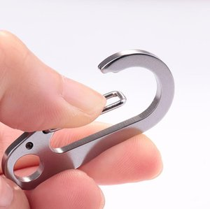 Climbing Button Carabiner Camping Hiking Hook Outdoor Sports Safety Buckle Keychain