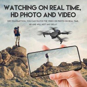 Seyahat E525 Drone 4K HD Hava Geniş Açılı Çift Kamera 1080 P Wifi Görsel Konumlandırma Yüksekliği RC Drone Tutun Beni Takip Edin RC Quadcopter1