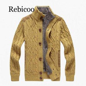REBICOO 2019 Nuevo nuevo sweede Cardigan Sweater Casual Suéter Cálido Cálido Collar grueso1