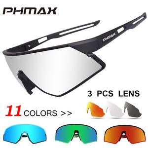 PHMAX Outdoor Sports Road Bicycle Glasses Ultralight Polarized Cycling Sun Glasses Men&Women MTB Bike Sunglasses Goggles Eyewear B1203