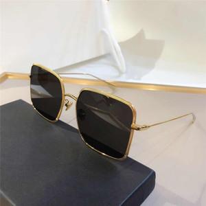 BY New Fashion Women Sunglasses Large Square Slim Elegant Style Metal Frame Full Frame Goggles High Quality UV-proof UV-400 Glasses Free Box