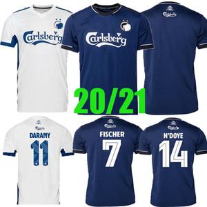 Danish Kopenhagen Fischer Fussball Jersey 2020 2021 Home Tiefblau Sigurdsson Zeca N'Doye Skov Uniform Kopenhagen Fussball Hemden