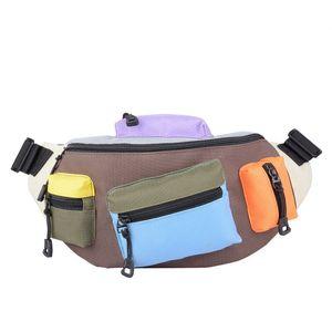 Colour bag PU men's mobile phone custom multi-purpose outdoor sports running waist bag