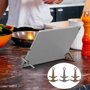 Magnetic Holder Retro Portable Anchor Shaped Metal Mini Desktop Stand Support Suction Tablet Phone Tripod Desktop Magnet Bracket