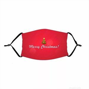 Respirável Livre Moda Face Face Frete Provaproof 2020 Santa Christmas Claus Elk Impressão Protetora Máscara para Adultos Xmas Máscaras com 1 P