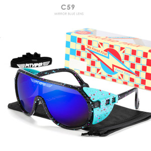 70% OFF Kenbo Eyewear Newest Pit Viper TR90 Frame Silver Mirror Outdoor Sports Sunglasses Oversized Cycling Glasses PV03