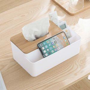 Многофункциональный органайзер Стол для хранения бен Tissue Box Обложка для лица держатель ткани Диспенсер для столовой Home Decor Y1116