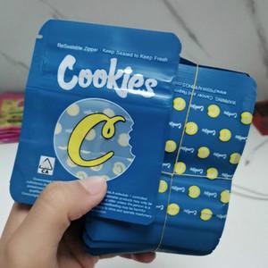 포장 가방 최신 쿠키 캘리포니아 SF 8th 3.5g Mylar childproof 가방 420 포장 Sour Edibles 쿠키 가방 크기 3.5g-1 / 8 가방 무료 DHL
