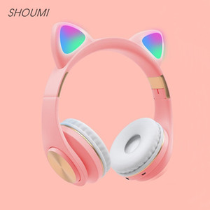 M1 Fantasy Elf Bluetooth 5.0 Earphone Wireless Earbuds LED Cat Ear Noise Cancelling Headphone Stereo Headset Cascos Musica Mic Y1120