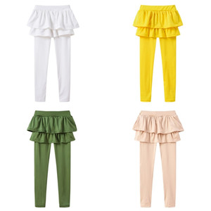 Princess Leggings Girl Child Fake Two Pieces Skirt Pants Spring Autumn New Pattern Pinkycolor Bottom Trousers Hot Sale 7 92yl M2