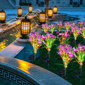 6Tape Flowers Light LED-Lawn-Solar-Lamps Rime Rose Lily Waterproof-IP66 600MAH Yard Lawn Path Wedding Christmas Lights Outdoor 2020
