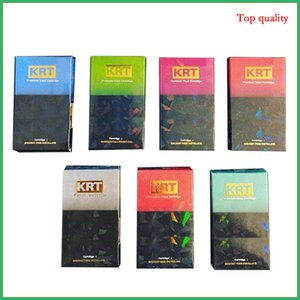 KRT Vape Tank New Packaging Glass Cartridge Ceramic Carts 0.8 1.0ml metal tip Vaporizer glo krt for Thick Oil atomizer