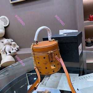 New Real Leather Classic Presbyopic handbags purses cannes modeling crossbody bucket bag Top handle and detachable shoulder strap