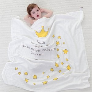Muslin Baby Blanket spring and summer girls Angel Wings cotton infant holds blankets bath towel 115*115cm Q1117