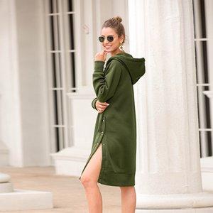 Lange feste Frauen freigegebene Reißverschluss Kordelzug in casual Hood Shirt Shirt Sweatpants NV57