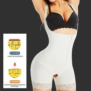AICONL Mujer Cuerpo Shaper Cintura Traisor Body Forma de láteje Shapewear Tight Levantamiento Pulta Control de la cintura Formado Adelgazante Ropa interior LJ201210