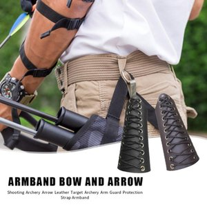 Cow Leather Archery Arm Guard Protector Adjustable Sports Safety Arm Protective Straps Protection Sportswear Accessories