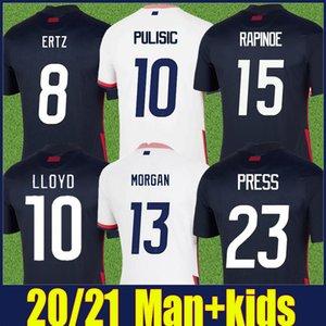 2020 United States Fussball Jersey Nationalmannschaft Hemd Dempsey Pulisic Football Hemden Kinder Kit Amerika Rapinoe Morgan 4 Sterne Fußballtrikot