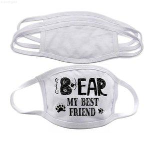 Auf Lager Leerzeichen Sublimation Gesicht Erwachsene Kinder Doppelschichten Staubschutz Maske Für DIY Wärmeübertragung DHL Freies Verschiffen FY9202