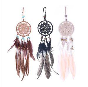 Lace Lace Dreamcatcher Dream Girlish Heart Dreamcatcher Fashion Feather Sueño Catcher Colgante Colgante Colgante Coche Decoración GWB3747