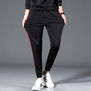 2020 Pants Stripe Sports Pants Street Men Women Drawstring Casual Fashio Jogging Bars Trousers