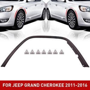 New CH1291106 Front Passenger Side Plastic Fender Flare Wheel Opening Molding For Jeep Grand Cherokee 2011-2016
