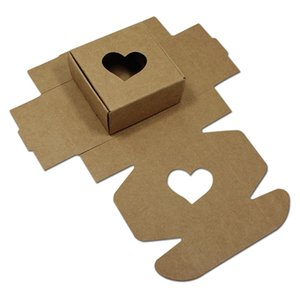 50pcs Lot DIY Hollow Kraft Paper Packaging Box for Gift Soap Packing Storage