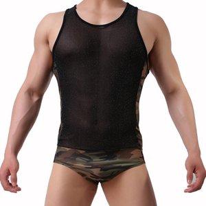 Men Sexy Camouflage Bodysuit Wrestling Singlet Fetish Gay Male Jockstrap Underwear Erotic Lingerie Fitness Suit Wild Jumpsuits