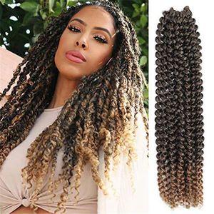 18 polegadas Faux Locs trança sintética extensões de cabelo simulação cabelo humano hundles hightemperature fibra wews flc-166