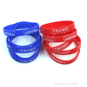 A-2020 Make America Great Bracelet Silicone Rubber Luminous Wrist Band Trump Supporters Bangles Cuff Mens Women Jewelry
