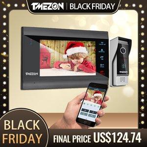 TMEZON Home Intercom System Wireless WiFi Smart IP Video Doorbell 7 Inch with 1x1200TVL Wired Door Phone Camera Y1128