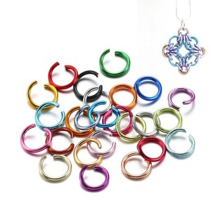 300pcs lot 6 8 10 Mm Aluminum Soft Open Jump Ring Split Rings Connectors For Diy Jewelry Making Findings Supplies Acc wmtbRn