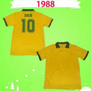 Brazil  1988 1991 brezilya retro futbol formaları Brasil Vintage brazil  ZICO ev sarı 88 91 Müller Renato Gaúcho Raí Valdo Klasik Brasil futbol formaları Brazil
