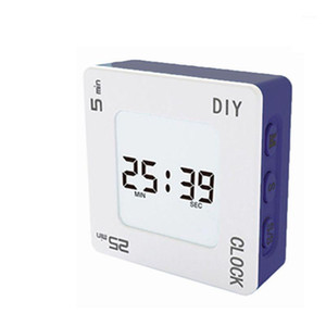 DIY Time Management Pomodoro Timer Creative Square Alarm Clock for students 203F1