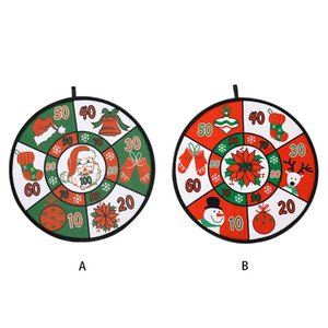 Christmas Dart Board with 4 Balls kids Toss Game Self-adhesive Target Sports Children's holiday New Year gifts Xmas party supply