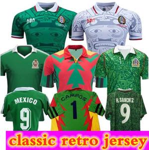 탑 레트로 1994 빈티지 멕시코 블랑코 호르헤 캄포스 1 Hernandez 15 Maillot 드 발 축구 유니폼 1998 축구 셔츠 키트 1986 Camiseta Futbol