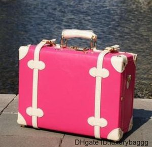 EMS FREE SHIPPING new Korean version of The retro box mobile home fashion beauty case luggage suitcase travel Post