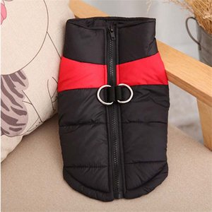 Autumn Winter Dog Warm Waistcoat Pet Dog Vests Coats with Leashes Rings Pet Dog Clothes Drop Ship