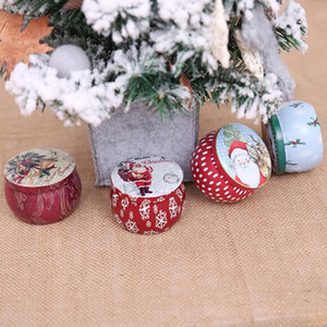 Cartoon Christmas Candy Storage Box Cookies Packaging Boxes Coin Jewelry Sealed Jar Home Party Supplies Random 7cmx7cmx5cm