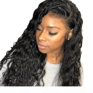 360 Lace Front Human Wigs Water Wave Glueless Virgin Brazilian 360 Frontal Full Lace Wig Pre Plucked Bleached Knots For Black Women