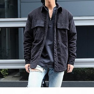 19FW FEAR OF GOD 6TH FOG Black Tooling Suede Shirt Jacket Women Men Couple Street Hip Hop Outwear Coats Casual Loose Streetwear HFYMJK248