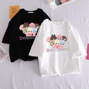 Nuovo album Dynamite Kpop Harajuku T Shirt Donna Ulzng Stile Coreano Grafico T Shirt Casual Hip Hop Tshirt Fashion Top Tee