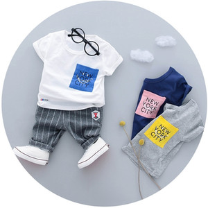 baby infant newborn girl boy costume toddler kids 3pieces half birthday clothes set summer short sleeve outfit 9 12 18 24 months Y1113