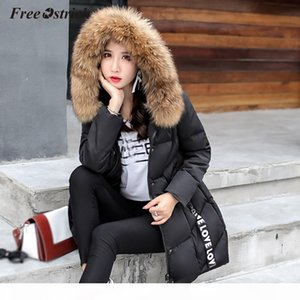 Free Ostrich 2019 New Parka Womens Winter Coats Womans Long Casual Fur Hooded Jackets Warm Parkas Female Overcoat Coat N30