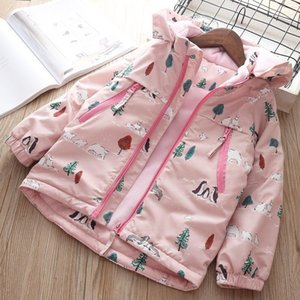Baby Coat Winter Autumn Jacket Girls Hoodies children Warm Thick outerwear Clothes Floral Christmas Jacket 4 5 years Snow Coat1