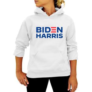 Unisex Men Women Pullovers Hoodies Biden Harris Letters Tops Joe Biden President Election Sweater Autumn Hooded Sweatshirts S-3XL DWE2982