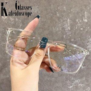 Carré Blue Hommes Rétro Cadres Cadre Lunettes Lumières Blocage Optique Spectacles Spectacles Verres Computer Women Eyewear Gaming SWFCD