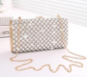 High Quality Diamonds Evening Bag Fashion Shoulder Crossbody Cosmetic Bags Trendy Female Totes Chain handbag Bridesmaid Bag