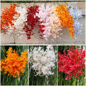 120cm Soie artificielle Oncidium Flower DANDY ORCHID DIRECTION DE LA DIRECTION DE MARIAGE DE MEDIAGE DECOPORATION